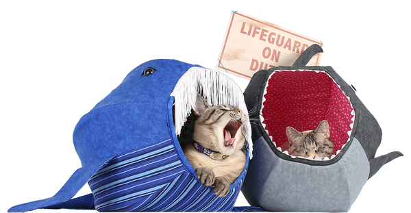 Shark and whale Cat Ball cat beds