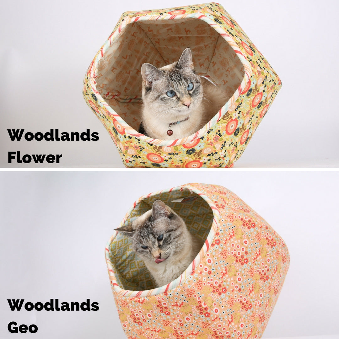 The Cat Ball available in coordinating Riley Blake woodlands fabrics