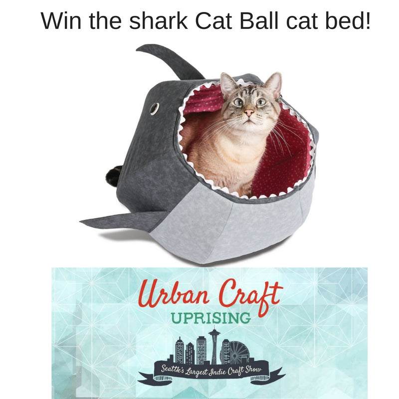 Win the shark Cat Ball cat bed at Urban Craft Uprising Winter 2016 show