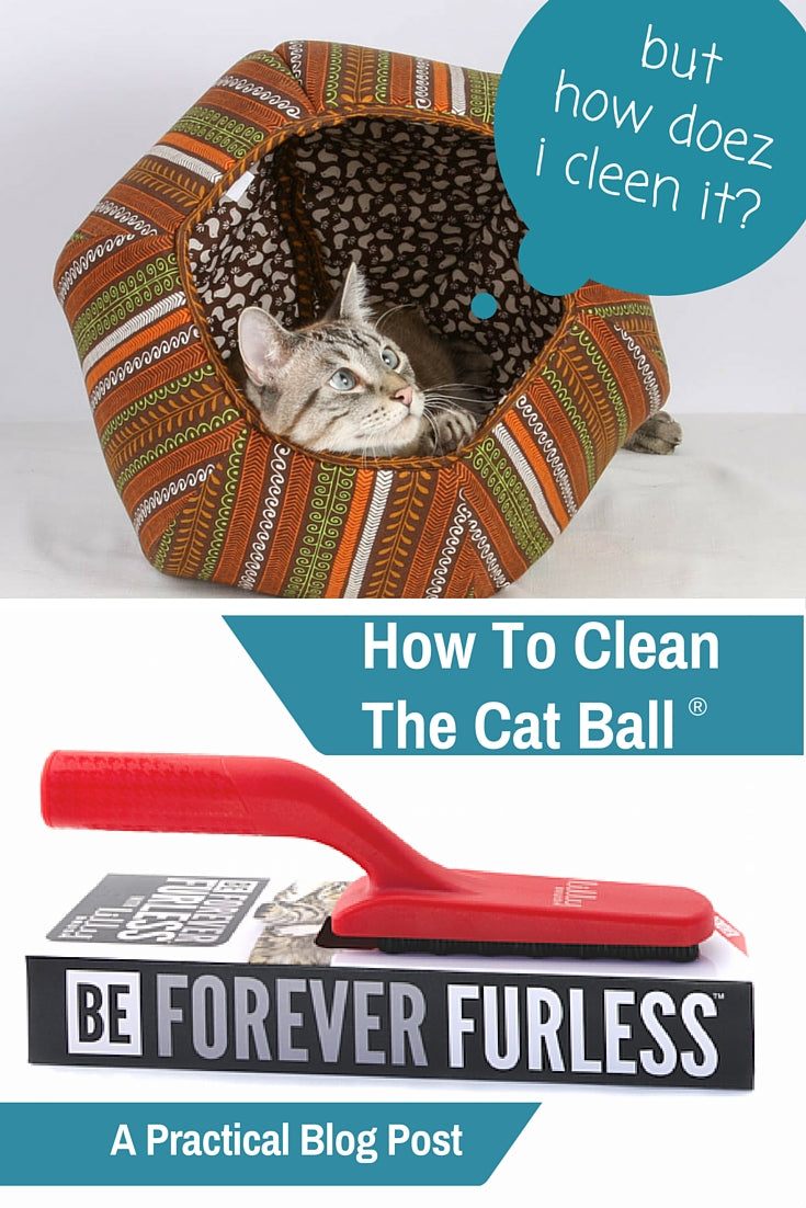 A blog post on how to clean the Cat Canoe and Cat Ball cat bed