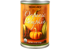 fresh-tasting canned pumpkin by Trader Joe's