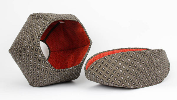 Cat Ball and Cat Canoe modern cat beds made in matching black fabrics