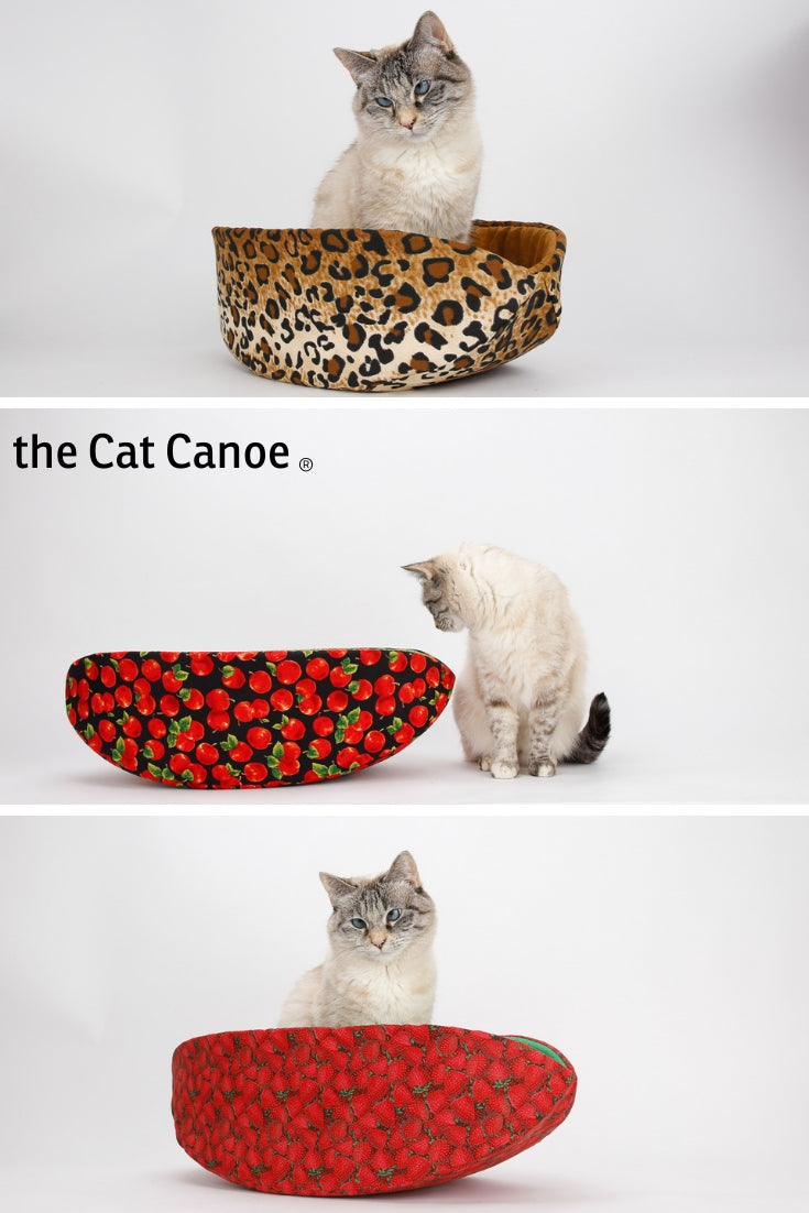 The Cat Canoe is a modern cat bed, and cats use it in many funny ways