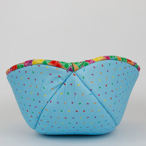 Cat Canoe® cat bed made in colorful TETRIS fabrics
