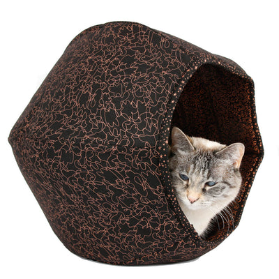 Cat Ball Bed - Copper Scribbles