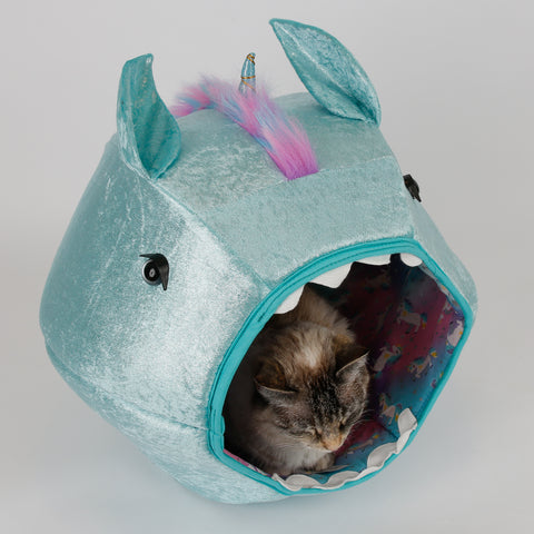 Cat Ball cat bed prototype for novelty unicorn