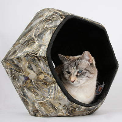 Cat Ball Bed - Egyptian Metallic Wings
