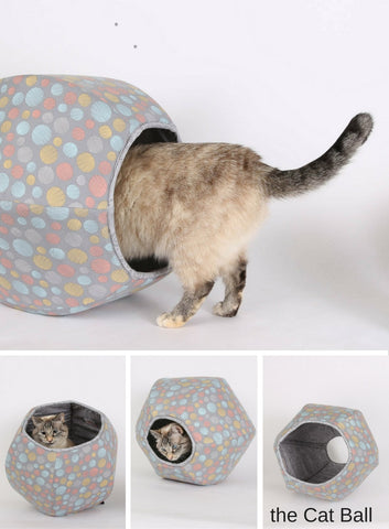 the Cat Ball® is a pet bed made for pets who like nice things