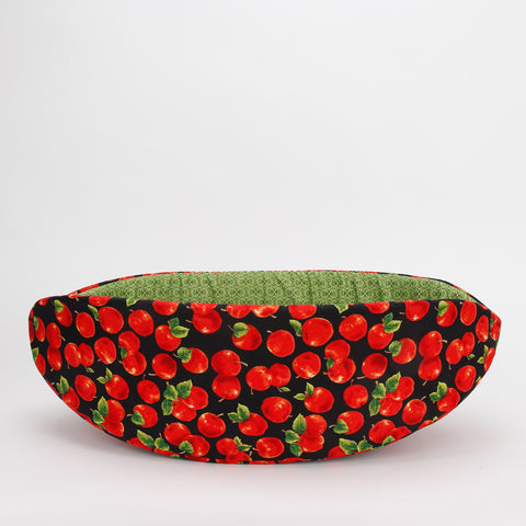 Cat Canoe made in apple fabric; novelty cat bed with fruit theme