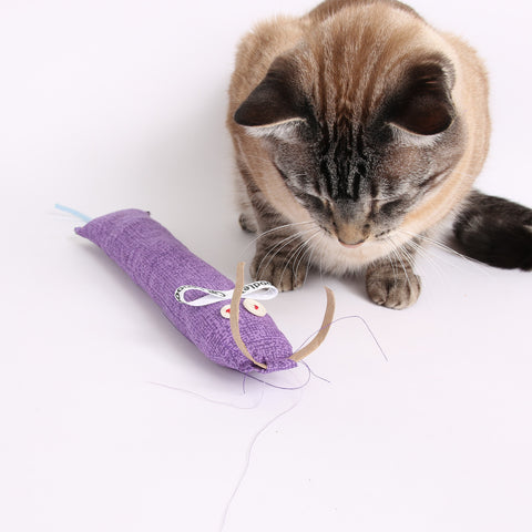 The CAT CANOODLE is a cute catnip toy designed by the creators of the CAT BALL cat bed