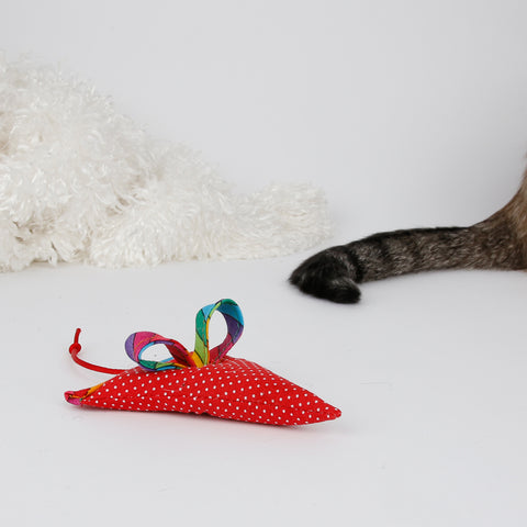 Cute mouse shaped catnip toy made by The Cat Ball, LLC
