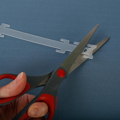 These thin polypropylene plastic ear savers can be trimmed with scissors