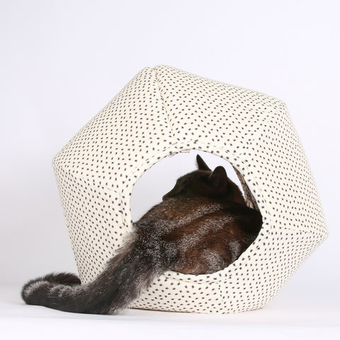 Spooky Halloween Spider Fabric Cat Ball Cat Bed