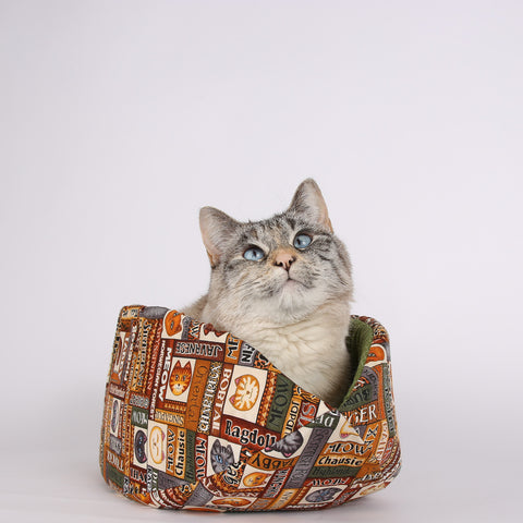 The Cat Canoe is a modern cat bed, made of fabric and foam