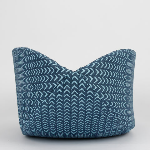 The Cat Canoe modern cat bed made in teal color cotton fabrics