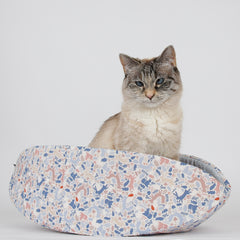 Cat Canoe modern pet bed in woodlands animals fabric