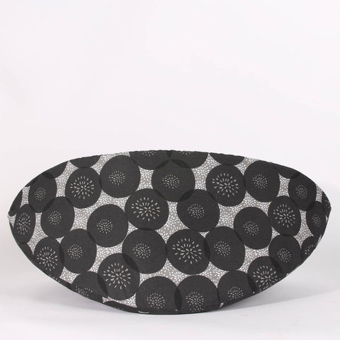 Jumbo Cat Canoe for big cats - Black and Grey Cherry Pop Fabric