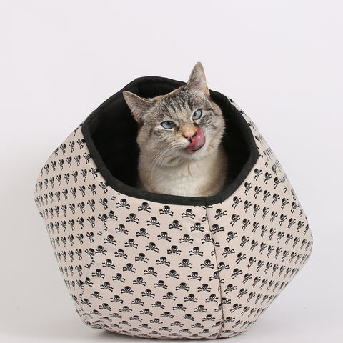 The mini size Cat Ball cat bed is for kittens, cats, and small dogs to about 8 pounds