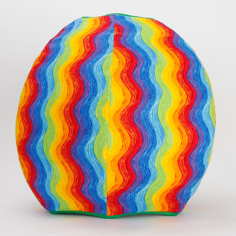 Cat Ball colorful cat cave bed in wavy rainbow fabric