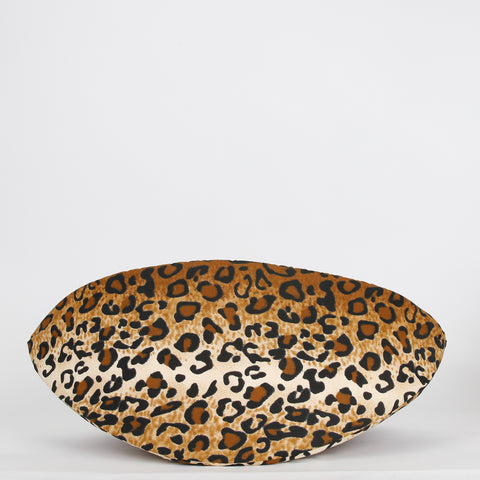 Jumbo size Cat Canoe modern cat bed in leopard fabric