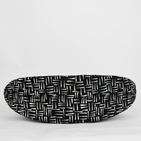 Cat Canoe modern cat bed made in black and white batik fabric
