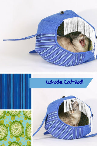 The Whale Cat Ball®is a popular novelty cat bed made by The Cat Ball, LLC