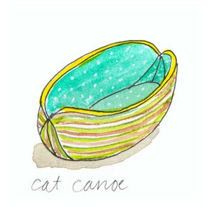 Cat Canoe modern cat bed in OOAK fabrics