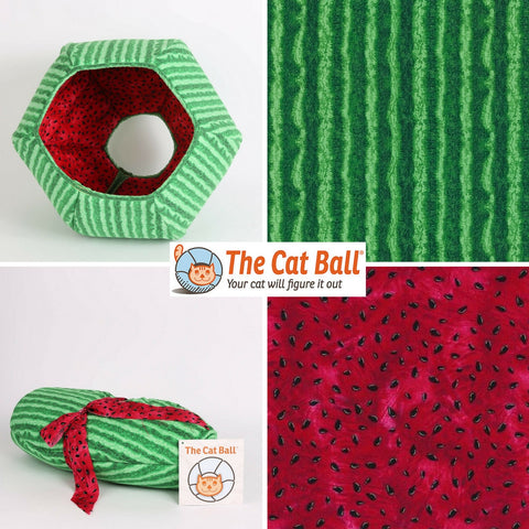 The Cat Ball cat bed that looks like a watermelon