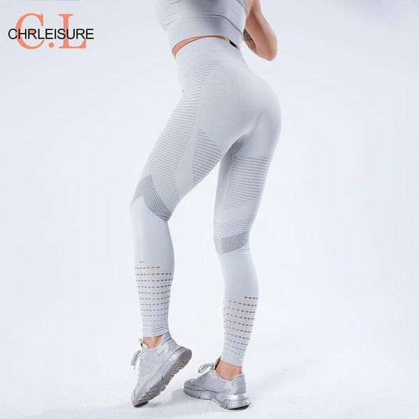 CHRLEISURE Women Legging Fitness Push Up Legging Seamless High Waist Workout Leggins Mujer 2020 New Gym Seamless Legins Women