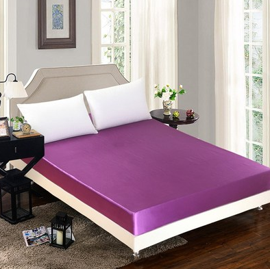 Summer ice silk silk silk bed  solid color bed cover bed package 1.2m/1.5/1.8 m bed cover special pillowcase - Direct Dropship