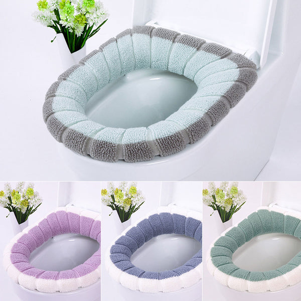 Two-color mosaic toilet seat cushion - Direct Dropship