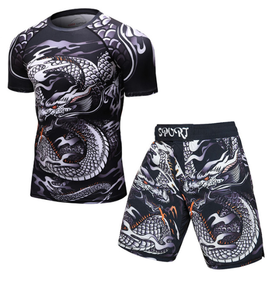 Brand New UFC BJJ MMA Work Out Compression Rashguard T shirt Men VS PK Exercise 3D Fitness Tights Bodybuild Cross fit Rash Guard - Direct Dropship
