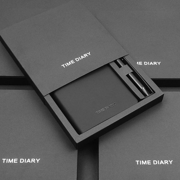 A6 portable notebook with pen cradle set gift box - Direct Dropship