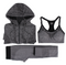 Quick Dry Sport Suits Fitness Yoga Running Athletic Tracksuits Bra & Pants & Jacket3pcs For Women - Direct Dropship