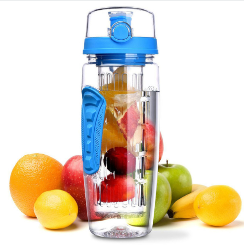 BAISPO 32oz 900ml BPA Free Fruit Infuser Juice Shaker Sports Lemon Water Bottle Tour hiking Portable Climbing Camp Bottles - Direct Dropship