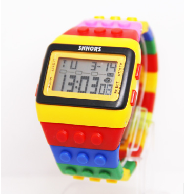 Building Block Design Digital Watch - Direct Dropship