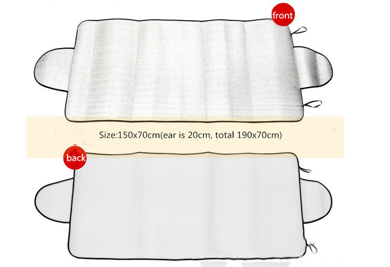150 X 70cm Car Sunshade Front Windshield Snow Frost Sunscreen Insulation Front And Rear Sun Anti-Snow Block - Direct Dropship