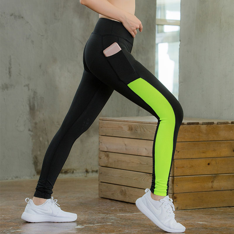 Women Yoga Pant With Pocket Tights Energy Seamless Sports Pants For Women High Waist Sport Leggings Fitness Running Pants Women - Direct Dropship