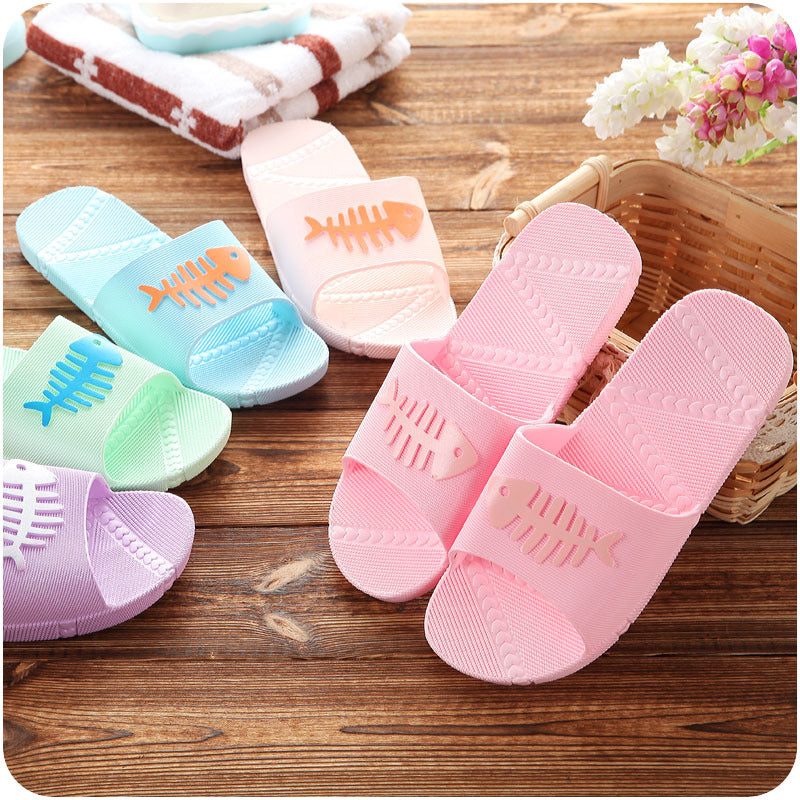 Bathroom antiskid small fish lovers slippers summer men couples slippers home indoor cool slippers indoor wholesale - Direct Dropship