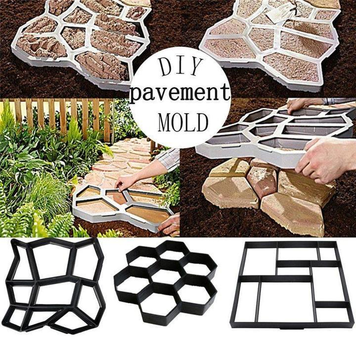 Ultralight diy garden paving mould hexagonal fancy mould - Direct Dropship