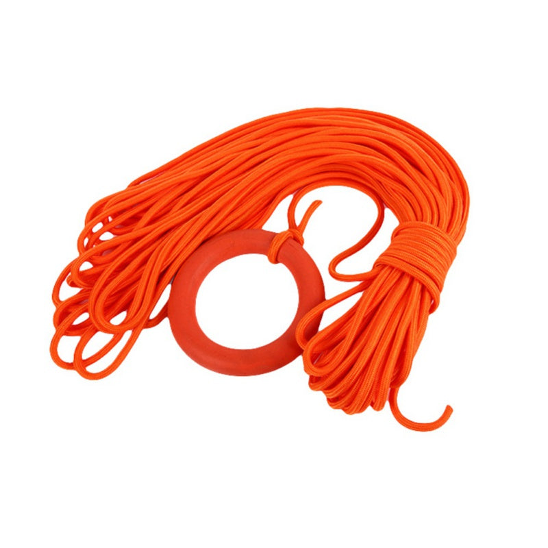 Life-saving floating rope Outdoor 30 meters floating lifeline snorkeling safety rope floating rope pool anti-mite rescue rope (Orange 8mm) - Direct Dropship