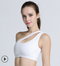 One-shoulder beauty back sports bra sports fitness yoga underwear gathered bra new sexy underwear - Direct Dropship