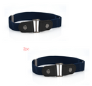 Leather Slim Stretch Invisible Belt Jeans Simple Joker Men and Women Lazy Belt - Direct Dropship