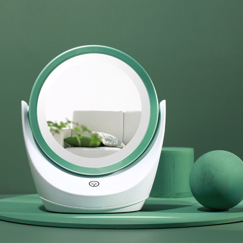 Dimmable Dual-purpose Mirror LED Switch Touch Rotating Double-sided Mirror