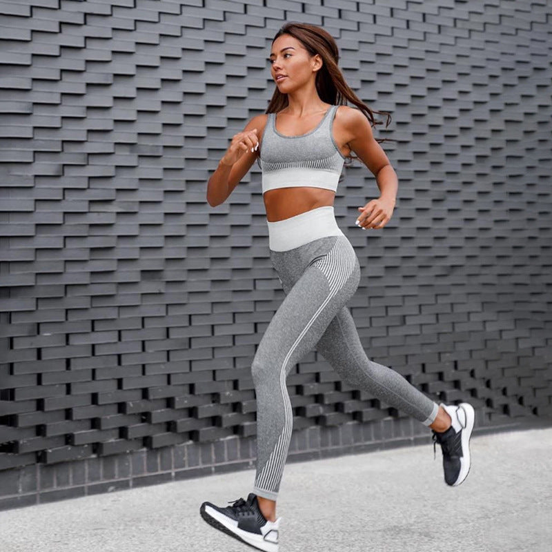 Seamless Yoga Suit For Women Jogging Top And Pants