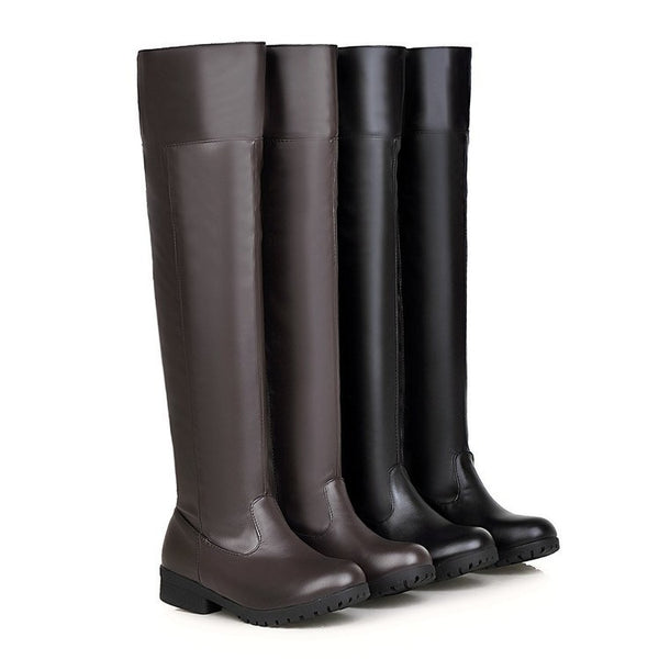 Stretch Over The Knee Boots Women's Thick Heel Long Boots