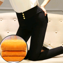 Plus velvet leggings pants thickening autumn and winter wear 2020 new feet high waist tight black pencil trousers - Direct Dropship