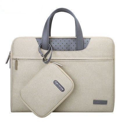 Business Laptop Bag 12 13 14 15 15.6 inch Computer Sleeve bag For Macbook Air Pro 13 15 Bags men women handbag + Small Pouch - Direct Dropship