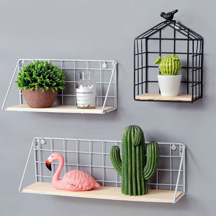 Nordic simple modern iron mesh rack kitchen bathroom partition storage rack - Direct Dropship