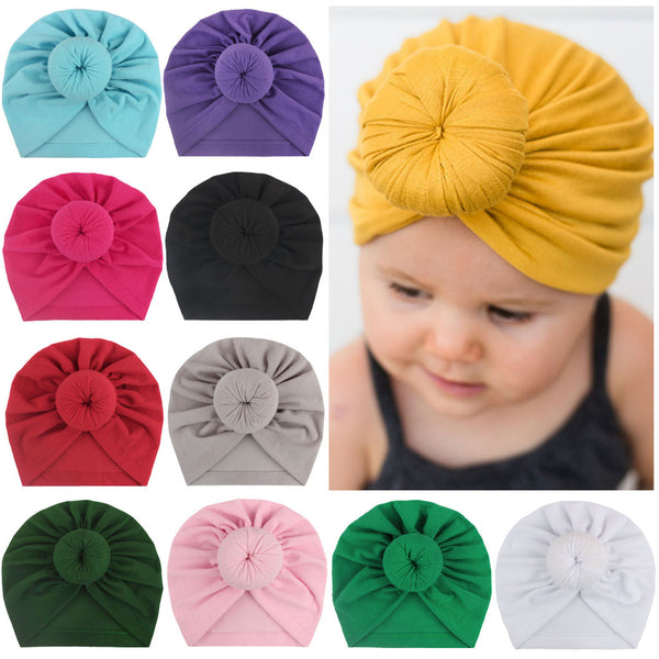 Children's turban hat baby knotted Indian beanie - Direct Dropship